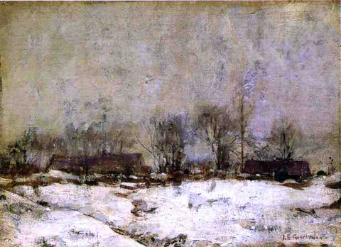 John Twachtman Winter Landscape, Cincinnati - Hand Painted Oil Painting