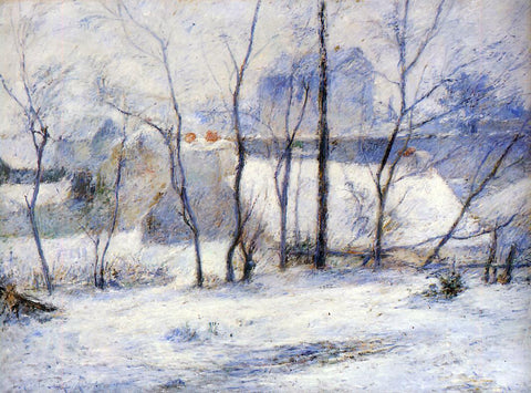 Paul Gauguin Winter Landscape, Effect of Snow (also known as Snow at Vaugirard, II) - Hand Painted Oil Painting