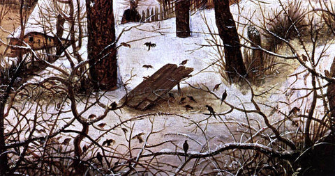 The Elder Pieter Bruegel Winter Landscape with Skaters and a Bird Trap (detail) - Hand Painted Oil Painting
