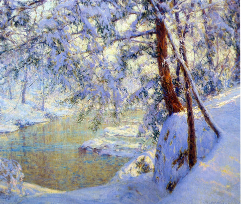 Walter Launt Palmer Winter Light and Shadows - Hand Painted Oil Painting
