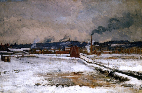 John Twachtman Winter, Mill Creek Valley, Cincinnati - Hand Painted Oil Painting