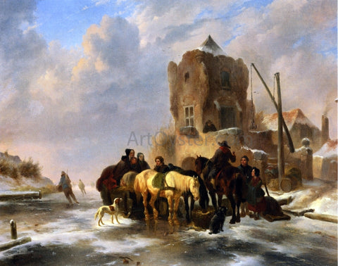Wouterus Verschuur Winter Scene - Hand Painted Oil Painting