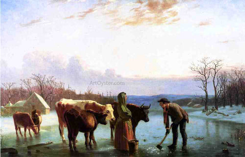 William Tylee Ranney Winter Scene, New Jersey - Hand Painted Oil Painting