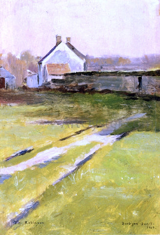 Theodore Robinson Winter Sunlight, Barbizon - Hand Painted Oil Painting