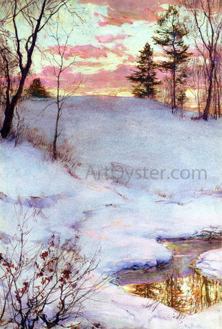 Walter Launt Palmer Winter Sunset - Hand Painted Oil Painting