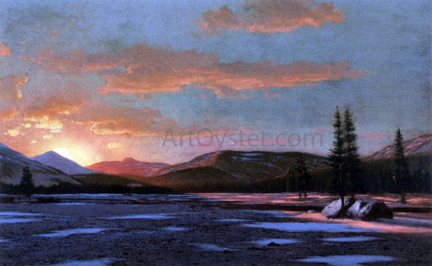 William Bradford Winter Sunset - Hand Painted Oil Painting