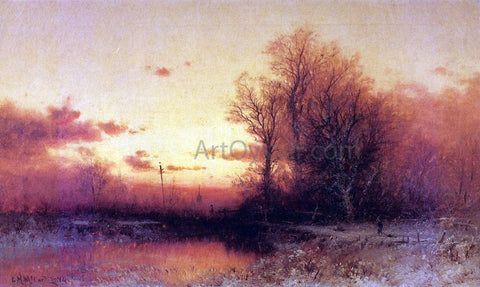 George Herbert McCord Winter Sunset - Hand Painted Oil Painting