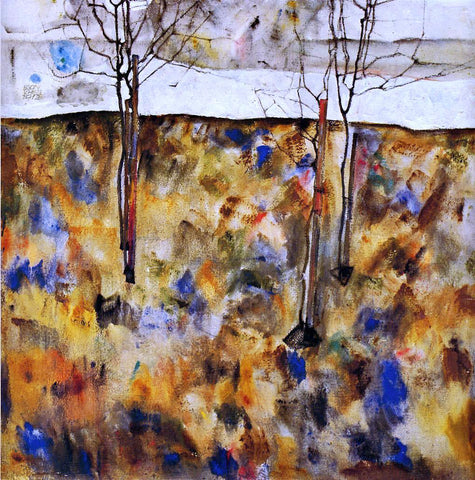 Egon Schiele Winter Trees - Hand Painted Oil Painting