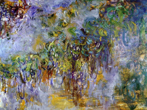 Claude Oscar Monet Winteria (right half) - Hand Painted Oil Painting