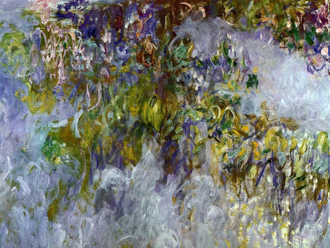 Claude Oscar Monet Wisteria (left half) - Hand Painted Oil Painting