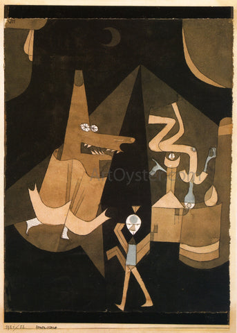Paul Klee Witch Scene - Hand Painted Oil Painting