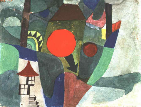 Paul Klee With the Setting Sun - Hand Painted Oil Painting