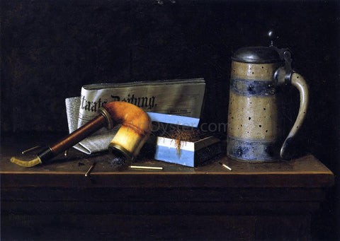 William Michael Harnett With the Staatszeitung - Hand Painted Oil Painting