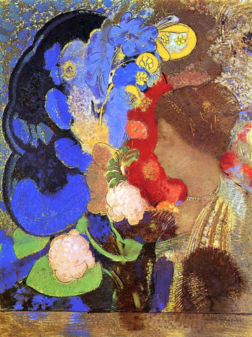 Odilon Redon Woman among the Flowers - Hand Painted Oil Painting