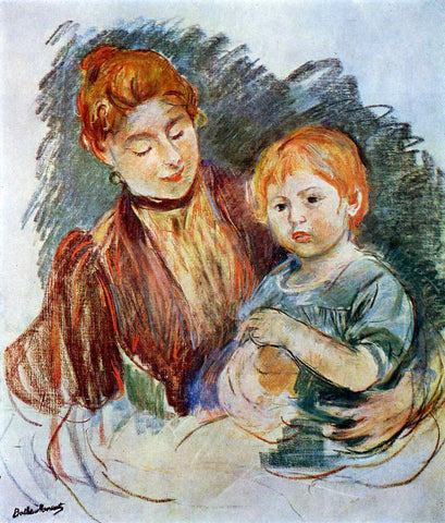 Berthe Morisot Woman and Child - Hand Painted Oil Painting