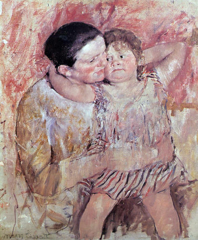 Mary Cassatt Woman and Child - Hand Painted Oil Painting