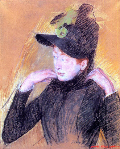 Mary Cassatt Woman Arranging Her Veil - Hand Painted Oil Painting
