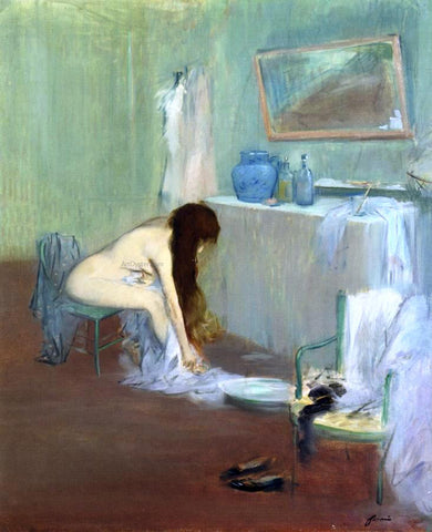 Jean-Louis Forain Woman at Her Toilette - Hand Painted Oil Painting