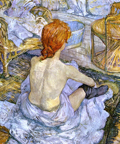 Henri De Toulouse-Lautrec A Woman at Her Toilette - Hand Painted Oil Painting
