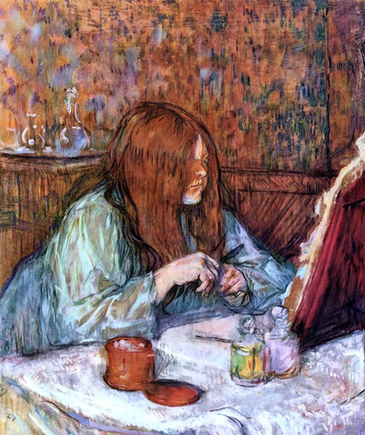 Henri De Toulouse-Lautrec Woman at Her Toilette: Madame Poupoule - Hand Painted Oil Painting