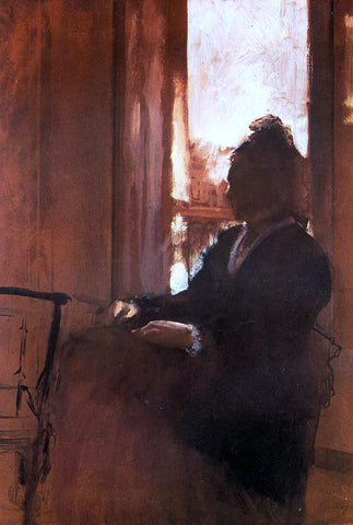 Edgar Degas Woman at the Window - Hand Painted Oil Painting