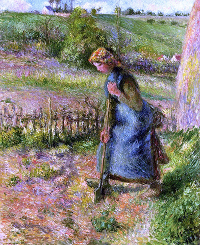 Camille Pissarro Woman Digging - Hand Painted Oil Painting