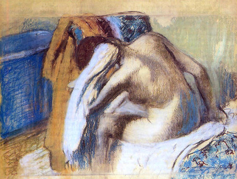 Edgar Degas Woman Drying Her Hair - Hand Painted Oil Painting