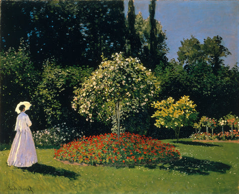 Claude Oscar Monet Woman in the Garden - Hand Painted Oil Painting
