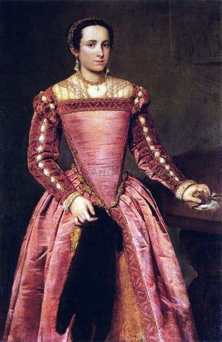 Giovanni Battista Moroni Woman in a Red Dress - Hand Painted Oil Painting