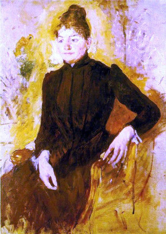 Mary Cassatt Woman in Black - Hand Painted Oil Painting