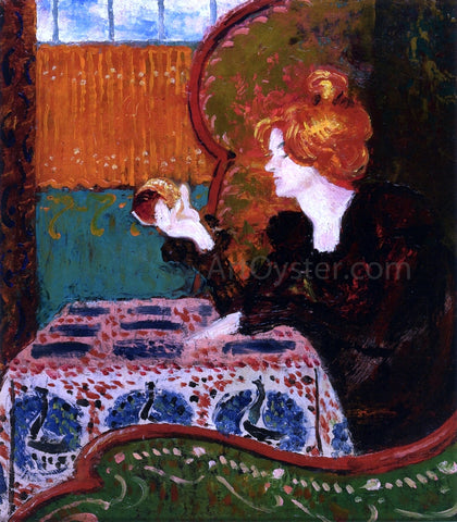 Georges Lemmen Woman in Profile - Hand Painted Oil Painting