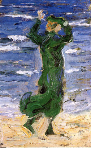 Franz Marc Woman in the Wind by the Sea - Hand Painted Oil Painting