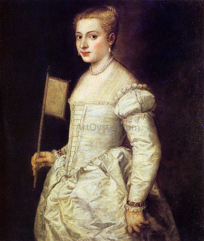Titian Woman in White - Hand Painted Oil Painting