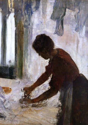 Edgar Degas Woman Ironing (also known as Silhouette) - Hand Painted Oil Painting
