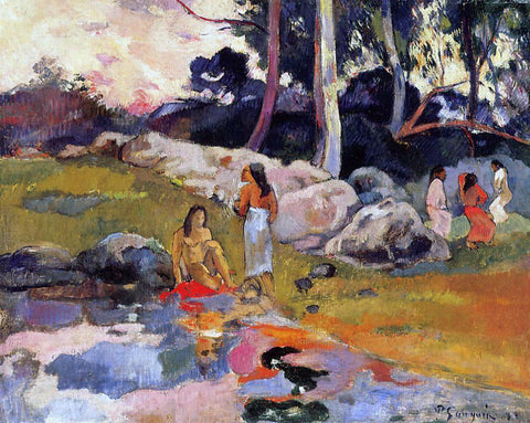 Paul Gauguin Woman on the Banks of the River - Hand Painted Oil Painting