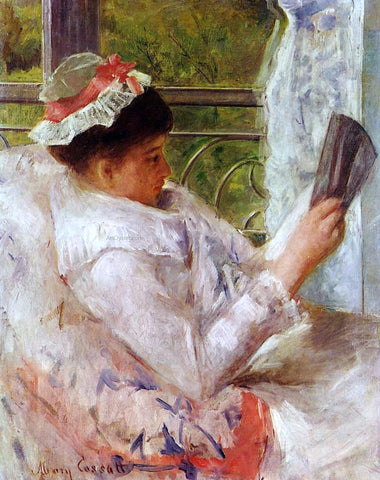 Mary Cassatt Woman Reading (also known as Lydia Cassatt) - Hand Painted Oil Painting