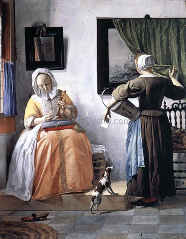Gabriel Metsu Woman Reading a Letter - Hand Painted Oil Painting