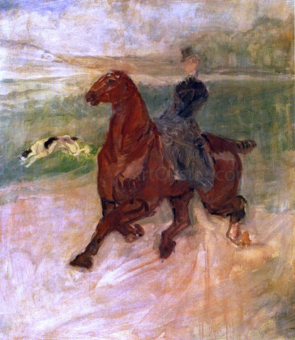 Henri De Toulouse-Lautrec Woman Rider and Dog - Hand Painted Oil Painting