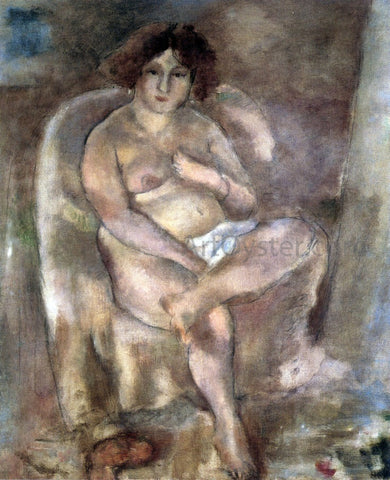 Jules Pascin Woman Seated in an Armchair - Hand Painted Oil Painting