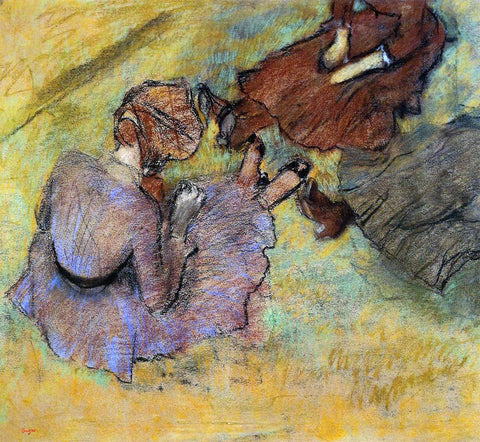 Edgar Degas Woman Seated on the Grass - Hand Painted Oil Painting