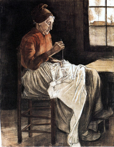 Vincent Van Gogh Woman Sewing - Hand Painted Oil Painting