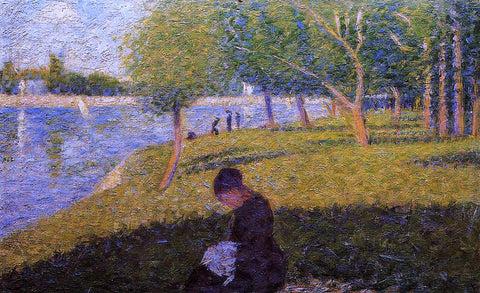 Georges Seurat Woman Sewing - Hand Painted Oil Painting
