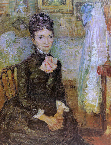 Vincent Van Gogh Woman Sitting by a Cradle - Hand Painted Oil Painting