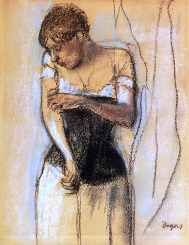 Edgar Degas Woman Touching Her Arm - Hand Painted Oil Painting