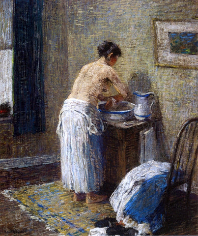 Robert Spencer Woman Washing - Hand Painted Oil Painting