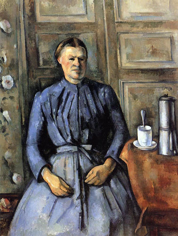 Paul Cezanne Woman with a Coffeepot - Hand Painted Oil Painting