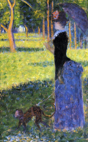Georges Seurat A Woman with a Monkey - Hand Painted Oil Painting