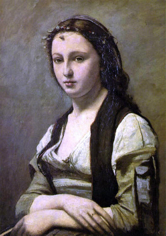 Jean-Baptiste-Camille Corot Woman with a Pearl - Hand Painted Oil Painting