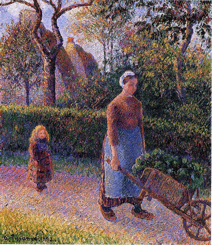 Camille Pissarro Woman with a Wheelbarrow - Hand Painted Oil Painting