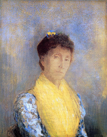 Odilon Redon Woman with a Yellow Bodice - Hand Painted Oil Painting